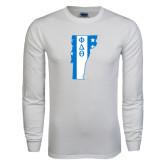 White Long Sleeve T Shirt-Vermont