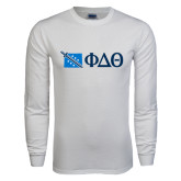 White Long Sleeve T Shirt-Wyoming