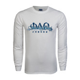White Long Sleeve T Shirt-Phi Delta Theta Script w/Sword