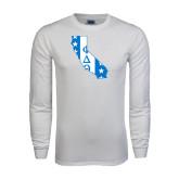 White Long Sleeve T Shirt-California