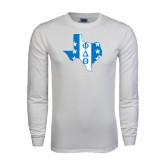White Long Sleeve T Shirt-Texas