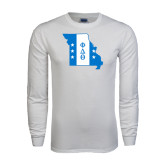 White Long Sleeve T Shirt-Missouri