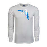 White Long Sleeve T Shirt-Florida