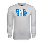 White Long Sleeve T Shirt-Iowa