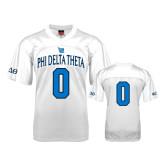 Replica White Adult Football Jersey-Phi Delta Theta