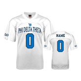 Replica White Adult Football Jersey-Phi Delta Theta Personalized