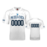 Replica White Adult Football Jersey-Phi Delta Theta Bond Number