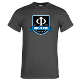 Charcoal T Shirt-Iron Phi Shield