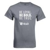 Charcoal T Shirt-Be Loyal Be Bold Be True