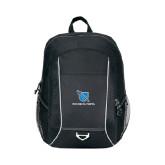 Atlas Black Computer Backpack-Stacked Shield/Phi Delta Theta