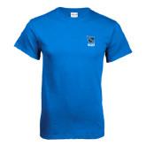 Royal T Shirt-Stacked Shield/Phi Delta Theta Symbols
