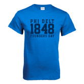 Royal T Shirt-Athletic Founders Day Design