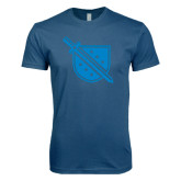 Next Level SoftStyle Indigo Blue T Shirt-Sword and Shield