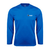 Performance Royal Longsleeve Shirt-Shield/Phi Delta Theta Symbols