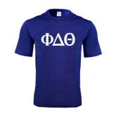 Performance Royal Heather Contender Tee-Phi Delta Theta Symbols