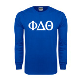 Royal Long Sleeve T Shirt-Phi Delta Theta Symbols