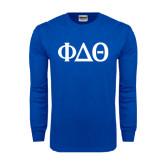 Royal Long Sleeve T Shirt-Phi Delta Theta Symbols