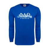 Royal Long Sleeve T Shirt-Phi Delta Theta Script w/Sword
