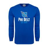 Royal Long Sleeve T Shirt-Phi Delt Est 1848