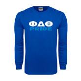 Royal Long Sleeve T Shirt-Phi Delta Theta Pride