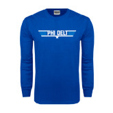 Royal Long Sleeve T Shirt-Phi Delt Star & Stripes