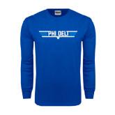 Royal Long Sleeve T Shirt-Phi Delt Star & Stripes