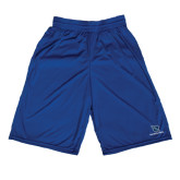 Russell Performance Royal 9 Inch Short w/Pockets-Stacked Shield/Phi Delta Theta