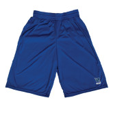 Russell Performance Royal 9 Inch Short w/Pockets-Stacked Shield/Phi Delta Theta Symbols