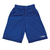 Russell Performance Royal 10 Inch Short w/Pockets-Shield/Phi Delta Theta Symbols