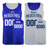 Royal/White Reversible Tank-Personalized w/Name and Bond #