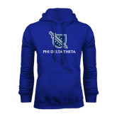 Royal Fleece Hoodie-Stacked Shield/Phi Delta Theta