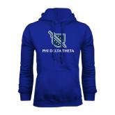 Royal Fleece Hoodie-Stacked Shield/Phi Delta Theta
