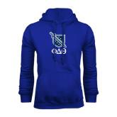 Royal Fleece Hoodie-Stacked Shield/Phi Delta Theta Symbols