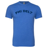 Next Level Vintage Royal Tri Blend Crew-Phi Delt Arc