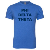 Next Level Vintage Royal Tri Blend Crew-Phi Delta Theta Stacked
