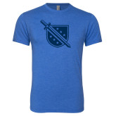 Next Level Vintage Royal Tri Blend Crew-Sword and Shield