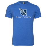 Next Level Vintage Royal Tri Blend Crew-Stacked Shield/Phi Delta Theta