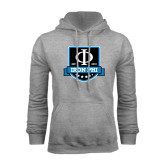 Grey Fleece Hoodie-Iron Phi Shield