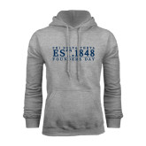 Grey Fleece Hoodie-Founders Day 1848