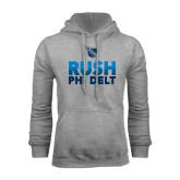 Grey Fleece Hoodie-RUSH Phi Delt