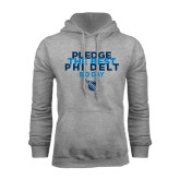 Grey Fleece Hoodie-Pledge The Best
