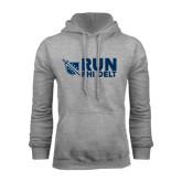 Grey Fleece Hoodie-Run Phi Delt