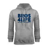 Grey Fleece Hoodie-Bros 4 Life