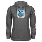 Adidas Climawarm Charcoal Team Issue Hoodie-Stacked Shield/Phi Delta Theta Symbols
