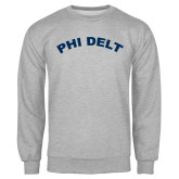 Grey Fleece Crew-Phi Delt Arc