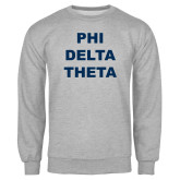 Grey Fleece Crew-Phi Delta Theta Stacked