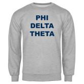 Grey Fleece Crew-Phi Delta Theta Stacked