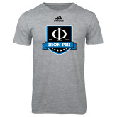 Adidas Sport Grey Logo T Shirt-Iron Phi Shield