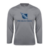 Performance Steel Longsleeve Shirt-Stacked Shield/Phi Delta Theta