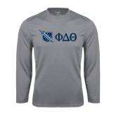 Performance Steel Longsleeve Shirt-Shield/Phi Delta Theta Symbols